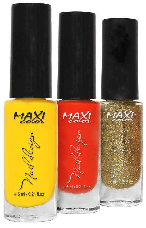 Maxi color - дизайн лаком (Maxi Color Nail design)
