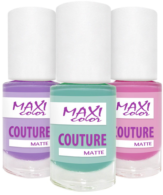 Maxi color - матовые ногти (Maxi Color Couture matte)