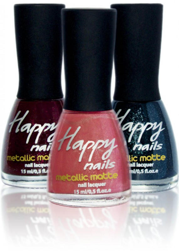Happy nails - metallic manicure (Happy nails Metallic Matte)