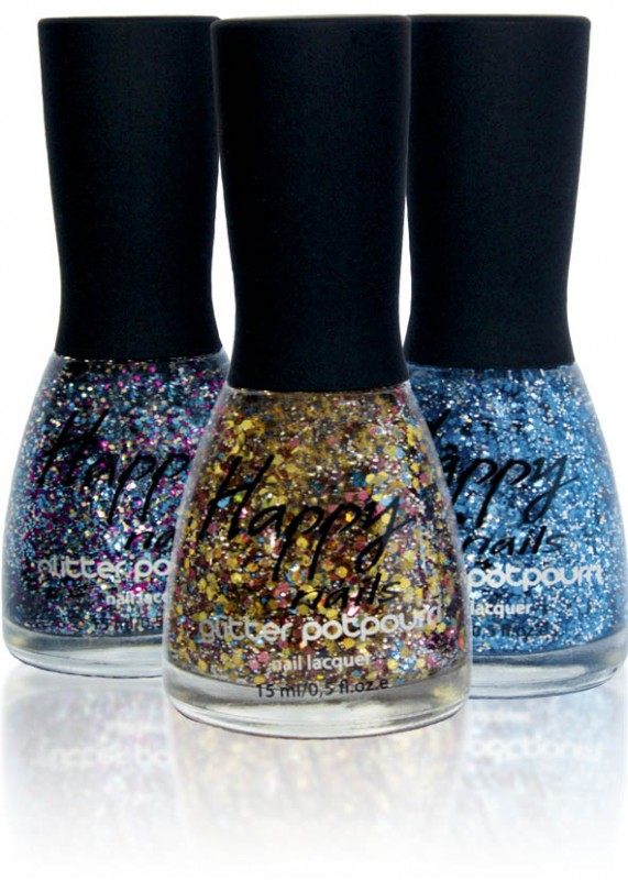 Happy nails - nail polish glitters top (Happy nails Glitter Potpourri)