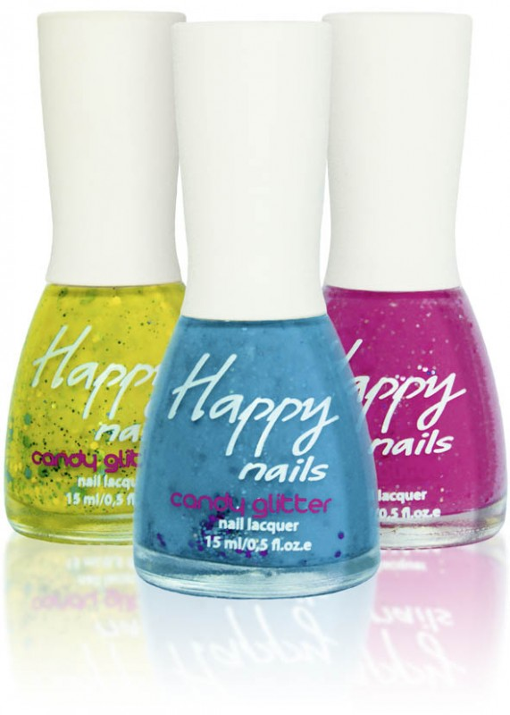 Happy nails - лак с блестками (Happy nails Candy glitter)