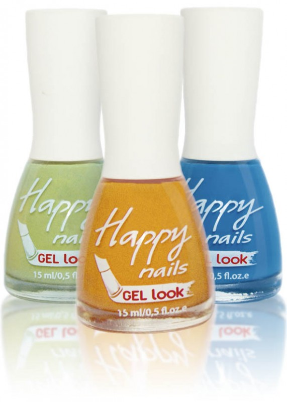 Happy nails - гель эффект (Happy nails Gel look)
