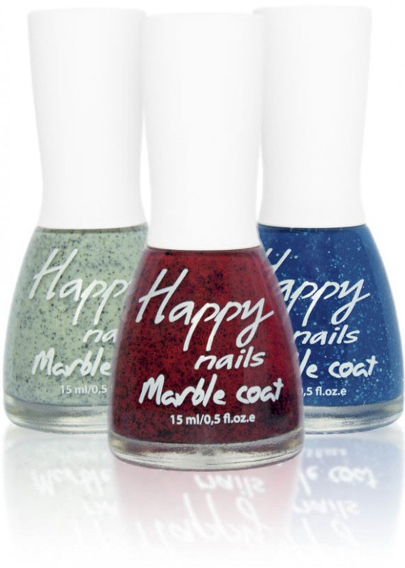 Happy nails  - мраморный эффект (Happy nails Marble coat)